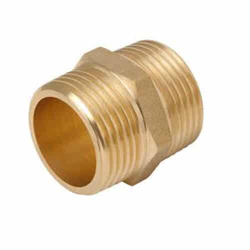 "Brass 1"" BSP Hex Nipple"