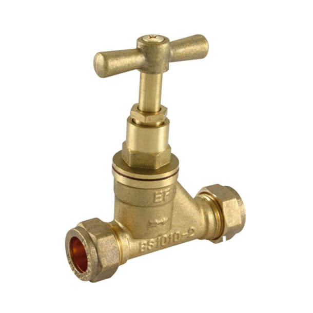 15mm Brass BS1010 CxC Stop Tap