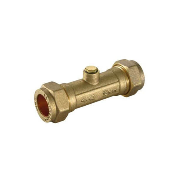Brass 15mm Double Check Valve DZR