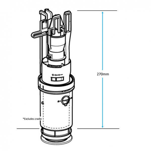 Geberit Dual Flush Valve 240.638.00.1 measurements