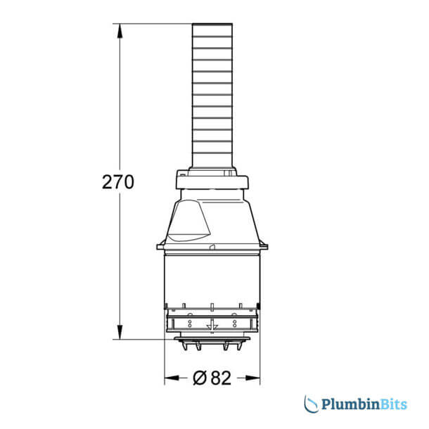 Grohe Adagio 42137 Single Flush Valve Measurements