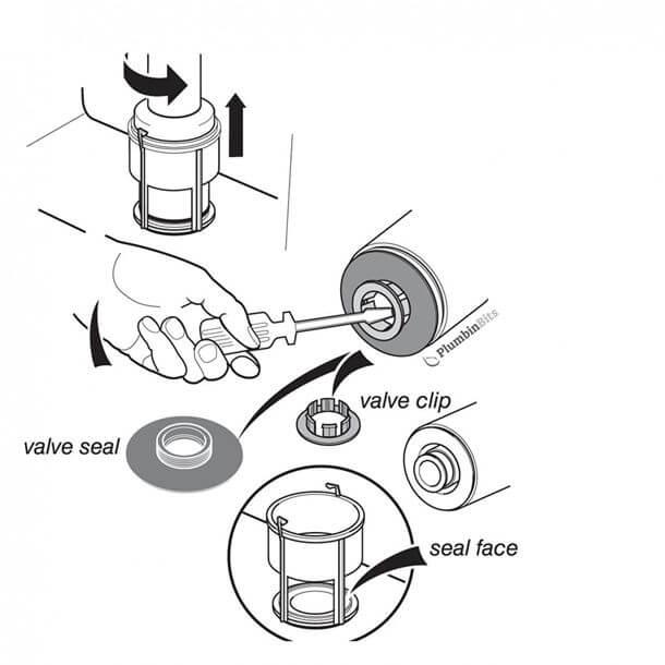armitage shanks flush valve seal & clip sv01967 fitting instructions