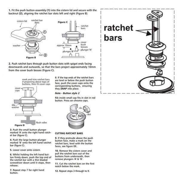 armitage shanks sv02067 push rods fixing instructions