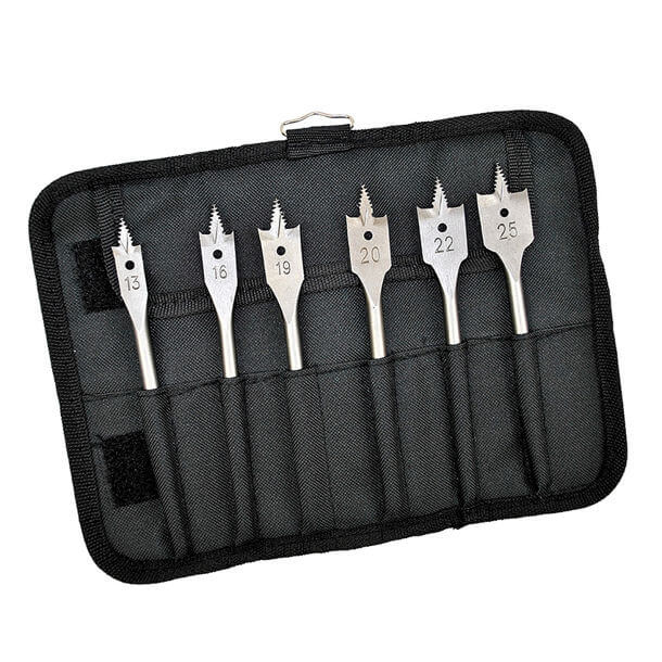 Bosch 6 Piece Flat Bit Wood Set Wallet 2608587793