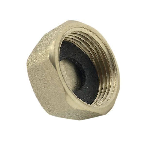 "Brass 3/4"" Blanking Cap & Washer"