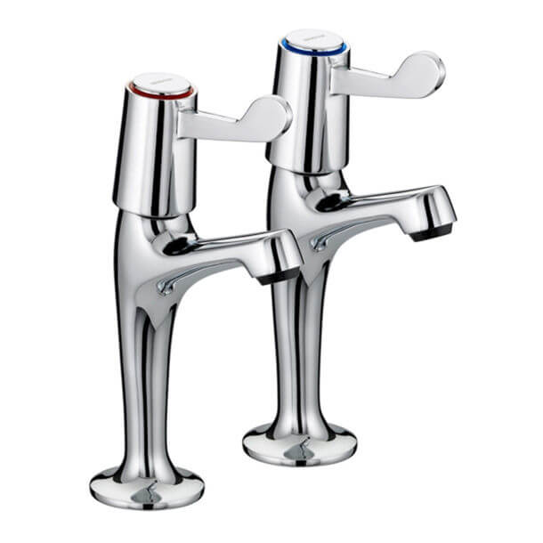 """Bristan 1/2"""" Ceramic Disc Lever High Neck Taps With 3"""" Levers"""