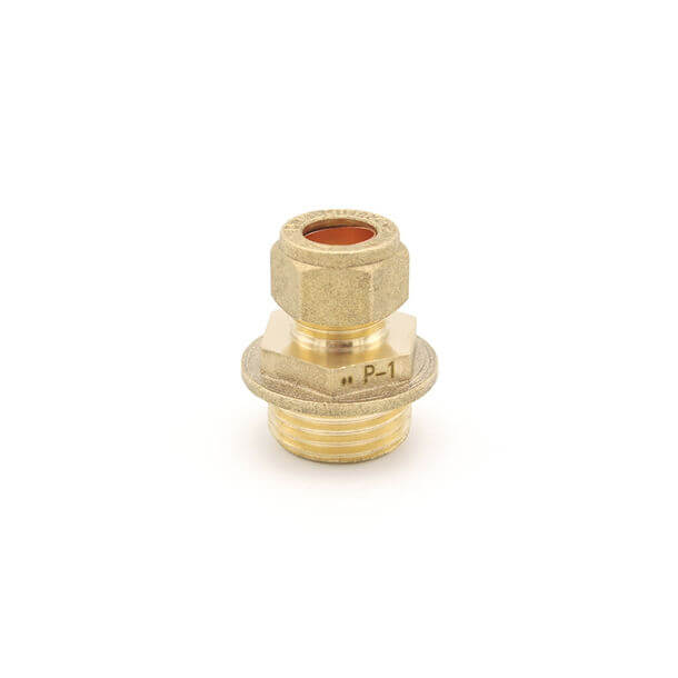 "10mm compression x 1/2"" male iron thread adapter"
