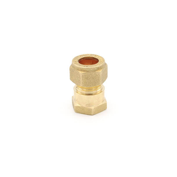 "10mm compression x 1/4"" female iron thread adapter"