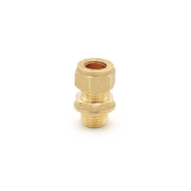 "10mm compression x 1/4"" male iron thread adapter"