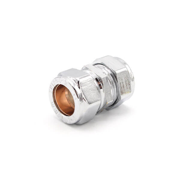 15mm chrome plated straight coupling