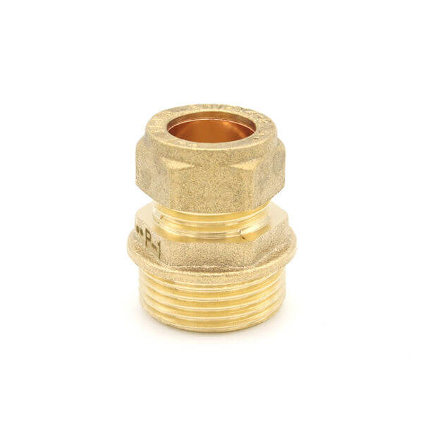 """15mm compression x 3/4"""" male iron adapter"""
