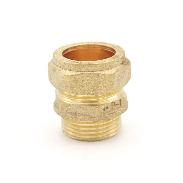 "22mm compression x 3/4"" male iron adapter"