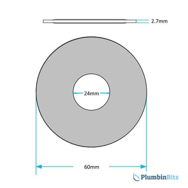 Dudley Pinto Flush Valve Seal 315297 measurement