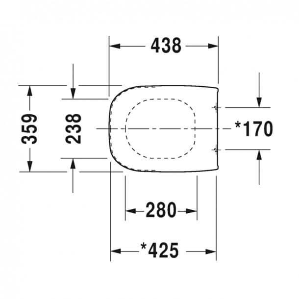 Duravit D-Code Seat Measurements 0067390000