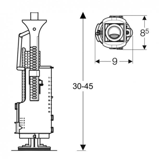 Duravit Impuls240 Measurements
