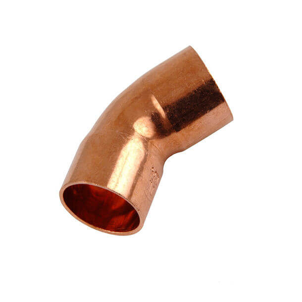 end feed 15mm copper 45 degree elbow