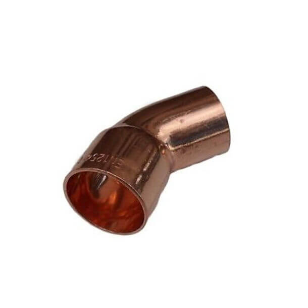 end feed 15mm copper 45 degree street elbow