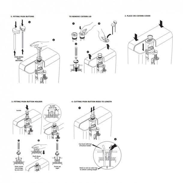 ideal standard dual flush push button e4448aa fitting instructions