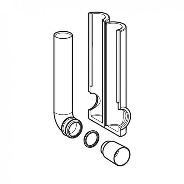 Geberit Sigma Insulated Cistern Flush Pipe 119.652.16.1