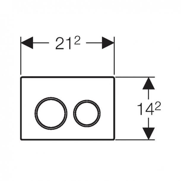 Geberit Omega20 Flush Plate Gloss Chrome 115.085.KH.1 measurements