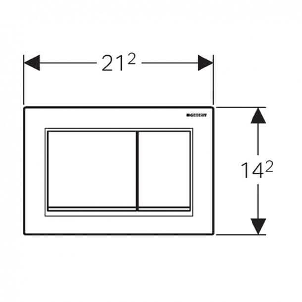Geberit Omega30 Flush Plate Gloss Chrome 115.080.KH.1 Measuements