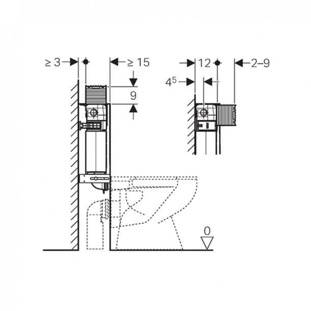 Geberit 12cm Omega Concealed Cistern Measurements 109.041.00.1