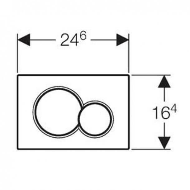 Geberit Sigma01 Flush plate 115.770.21.5 Measurements