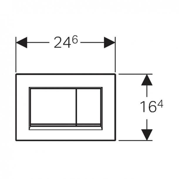 Geberit Sigma30 Flush Plate Gloss Chrome 115.883.KH.1 measurements