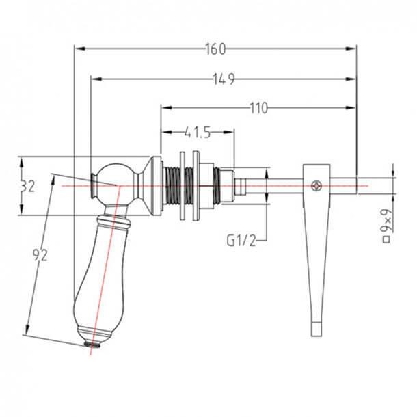 Heritage CPC00 Lever measurements