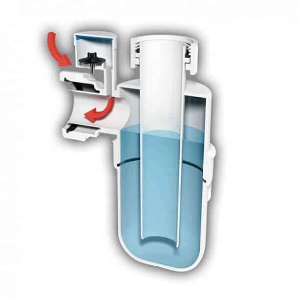McAlpine Anti Syphon Bottle Trap Diagram A10V