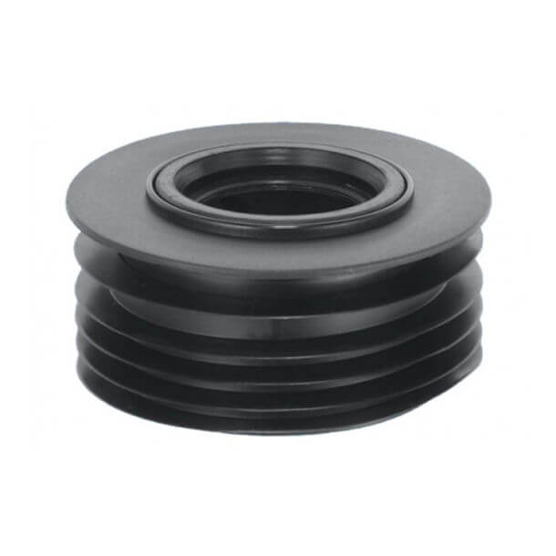 """McAlpine 110mm Drain Connector for 2"""" Waste Pipe DC3-BL"""