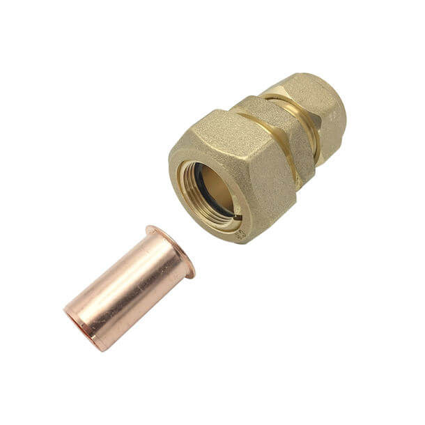 """Black Polyorc 3/8"""" PVC Pipe to 15mm Copper Adapter"""