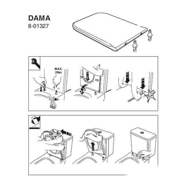 Dama seat installation