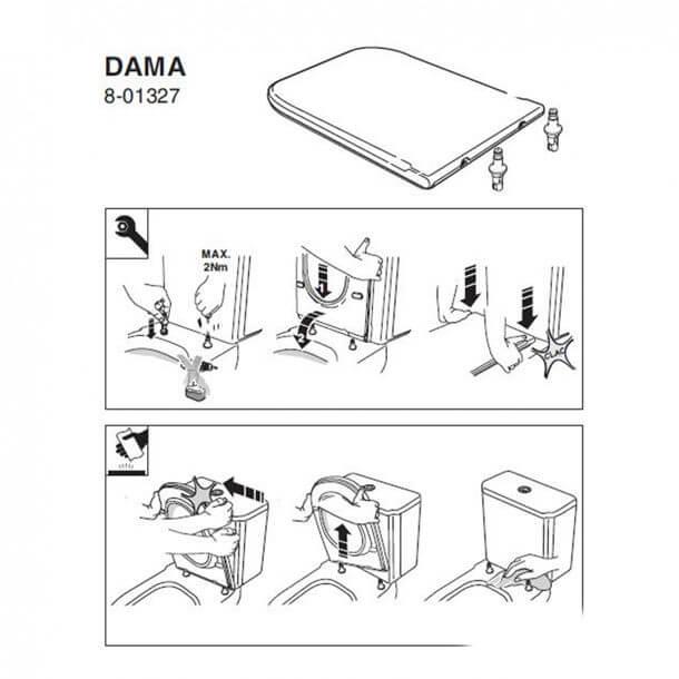 Roca dama Fitting Instructions
