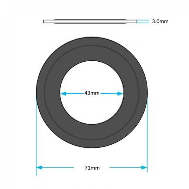 siamp optima flush valve seal measurements