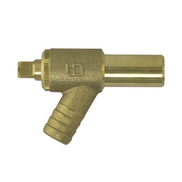15mm brass drain off