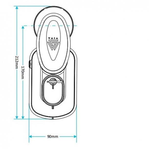 Viva Skylo Dual Flush Height Adjustable Syphon AS01 Measurements
