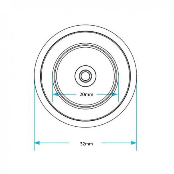 Wirquin Jollyfill Inlet valve washer Measurements