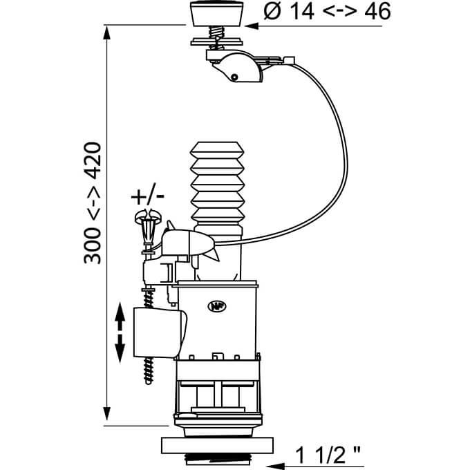 Wirquin Jollyflush 10120446 measurements