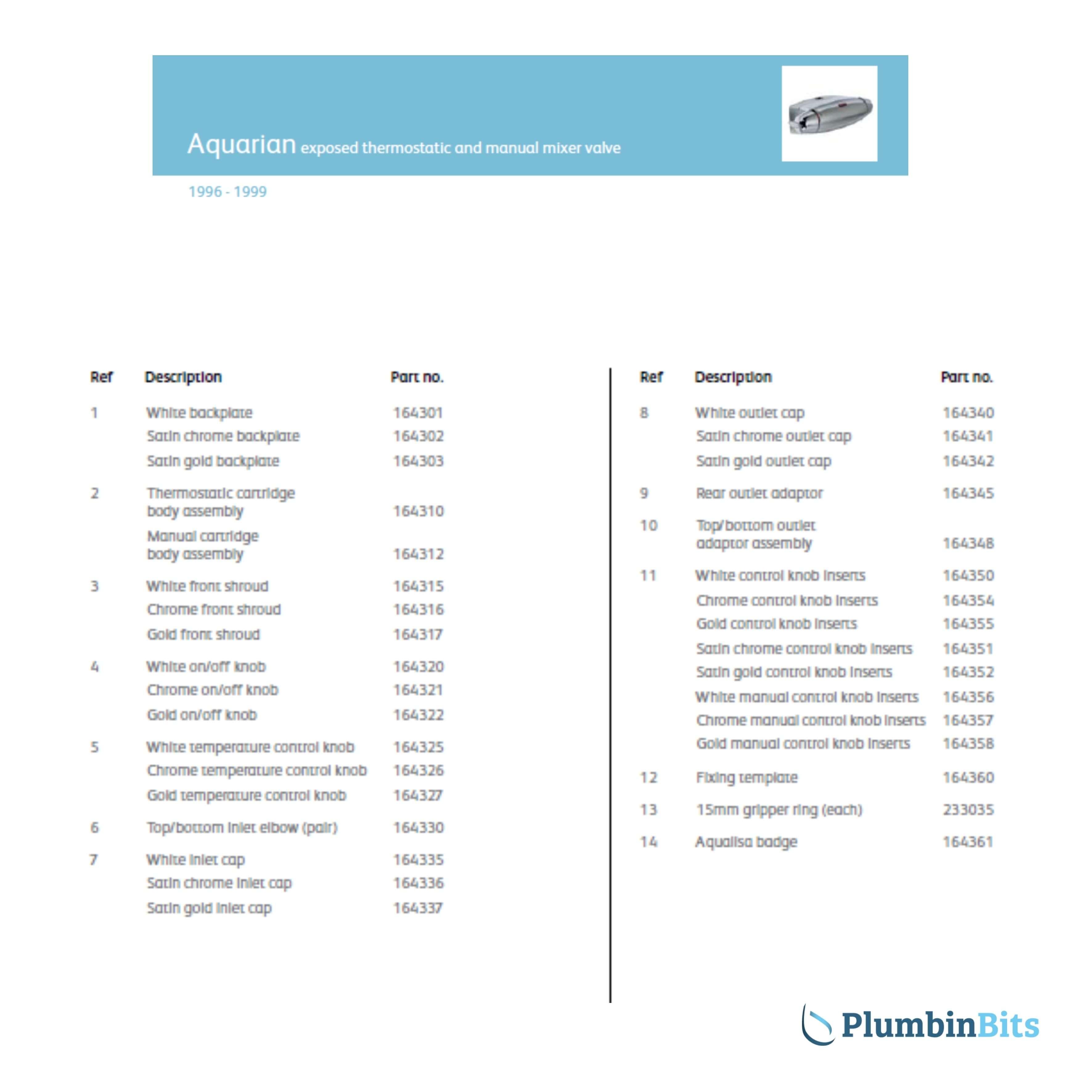 Aquarian 96 Parts List