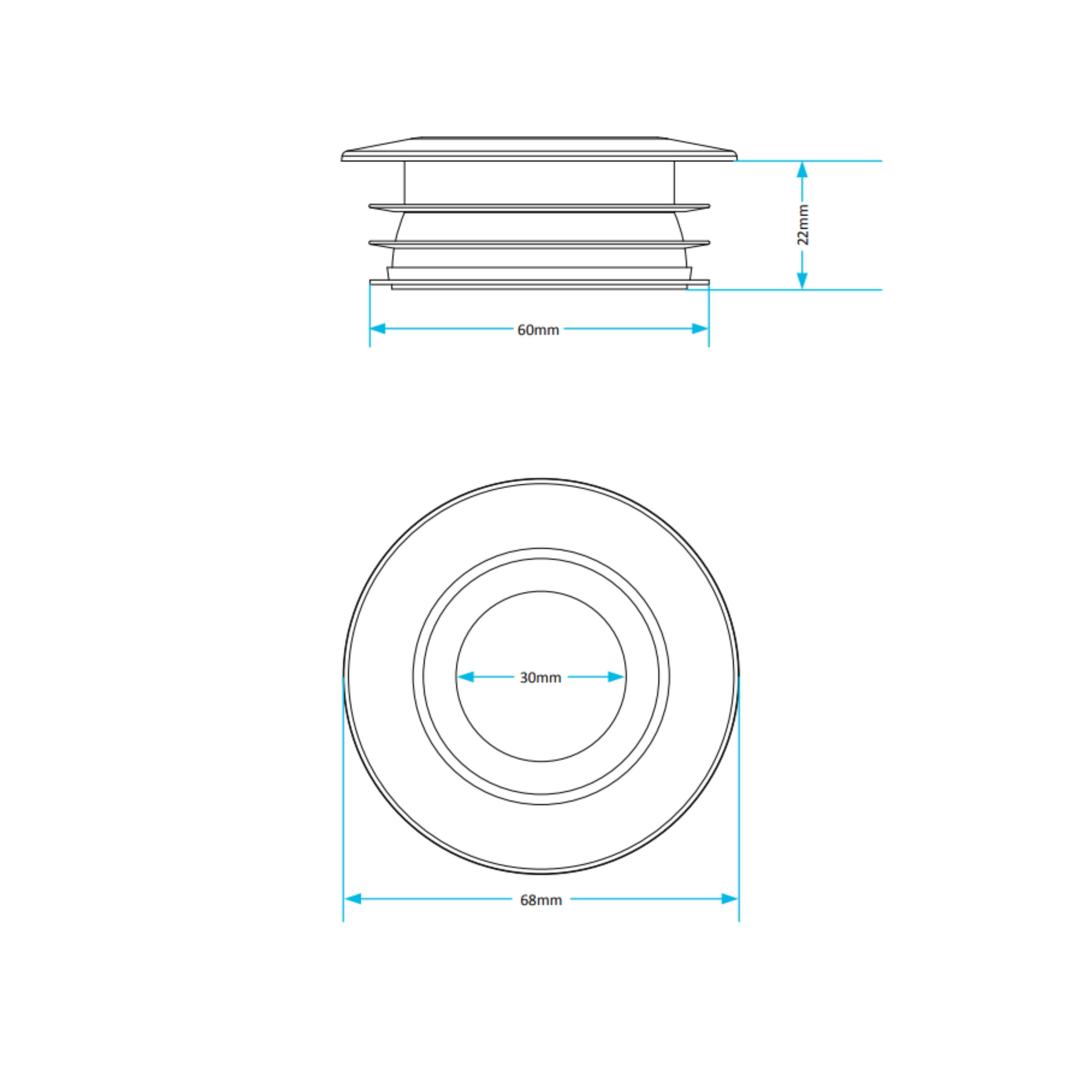 BM99 Flush Pipe Cone Dimensions