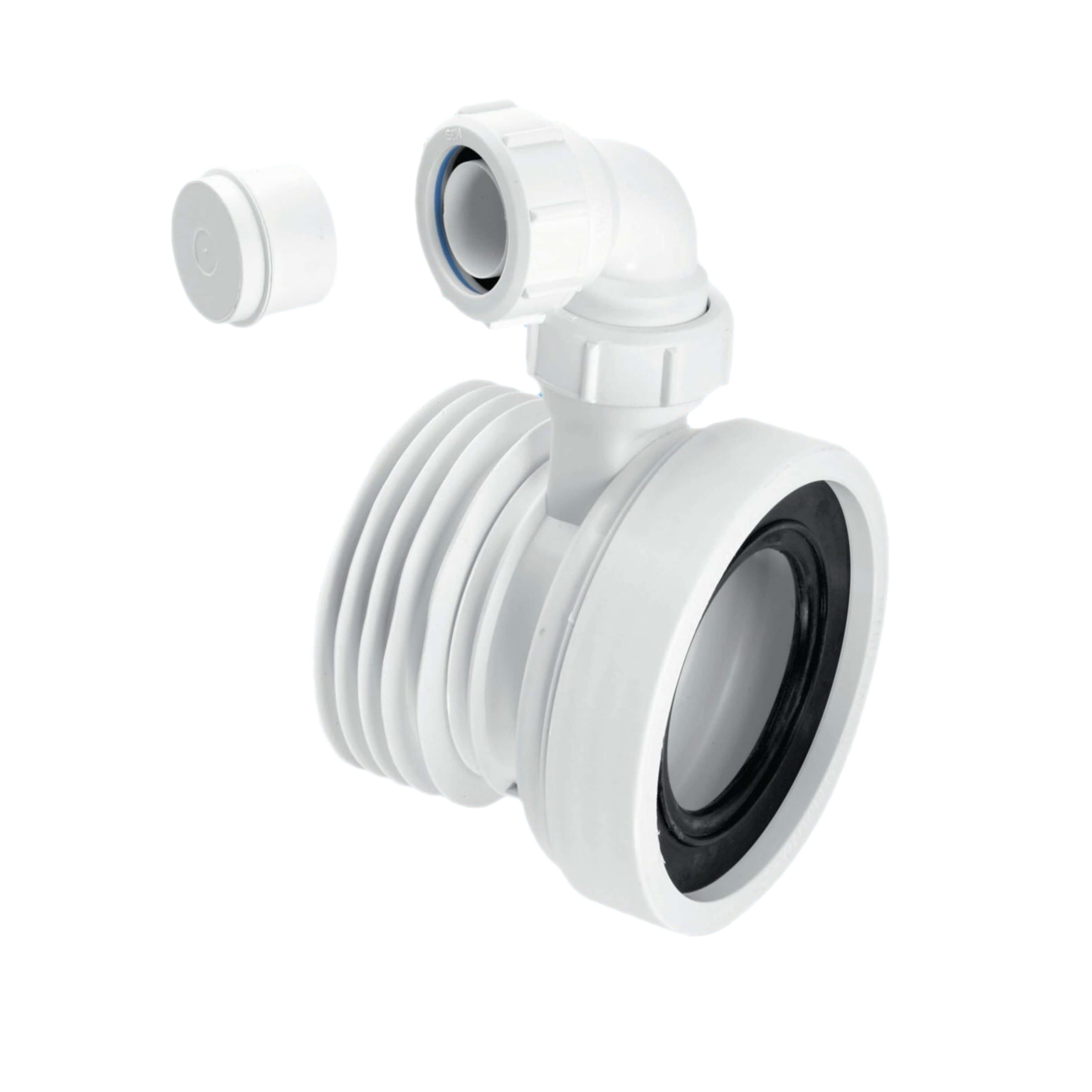 """McAlpine 4"""" Straight Pan Connector WC-CON1V"""