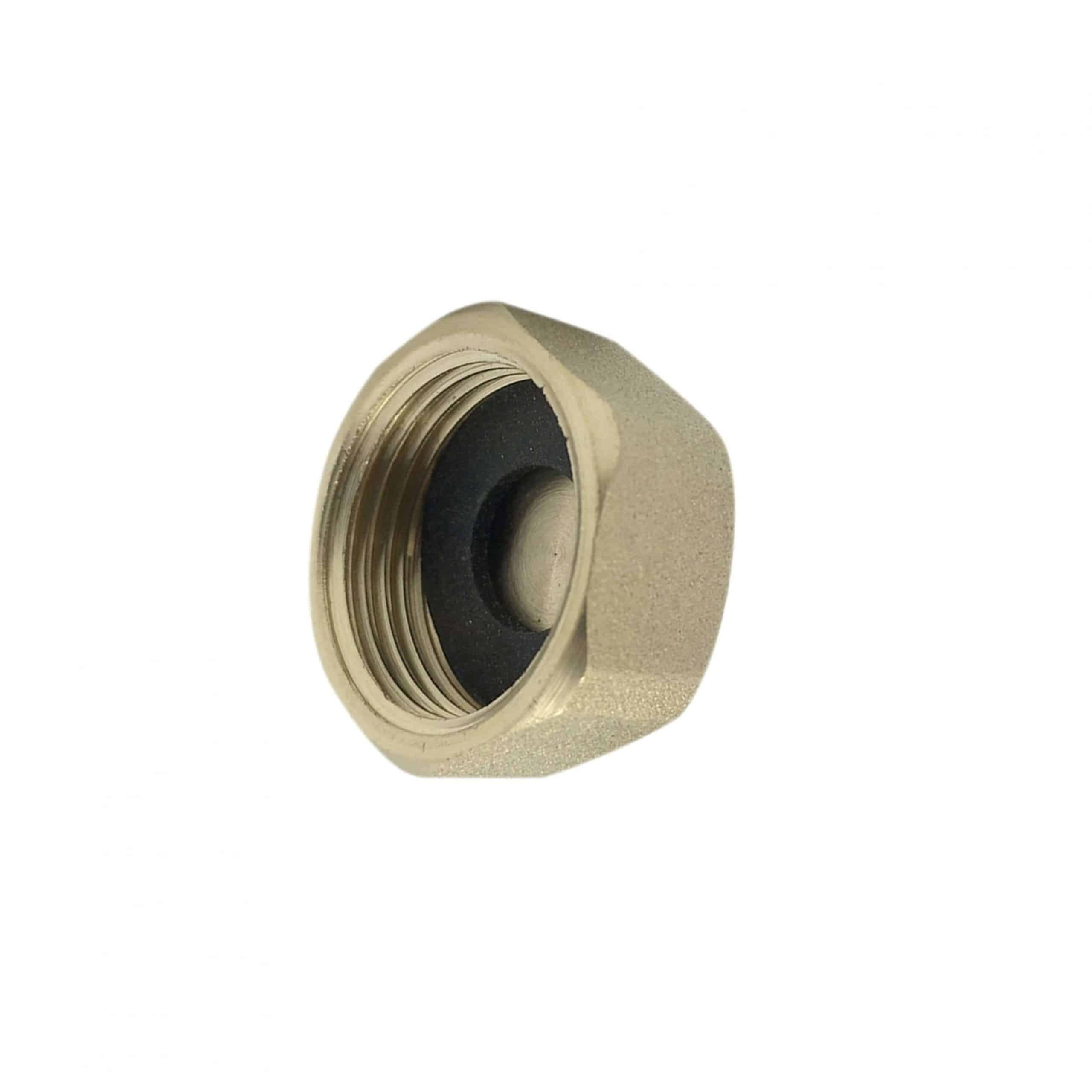 "Brass 1/2"" End Cap & Washer"
