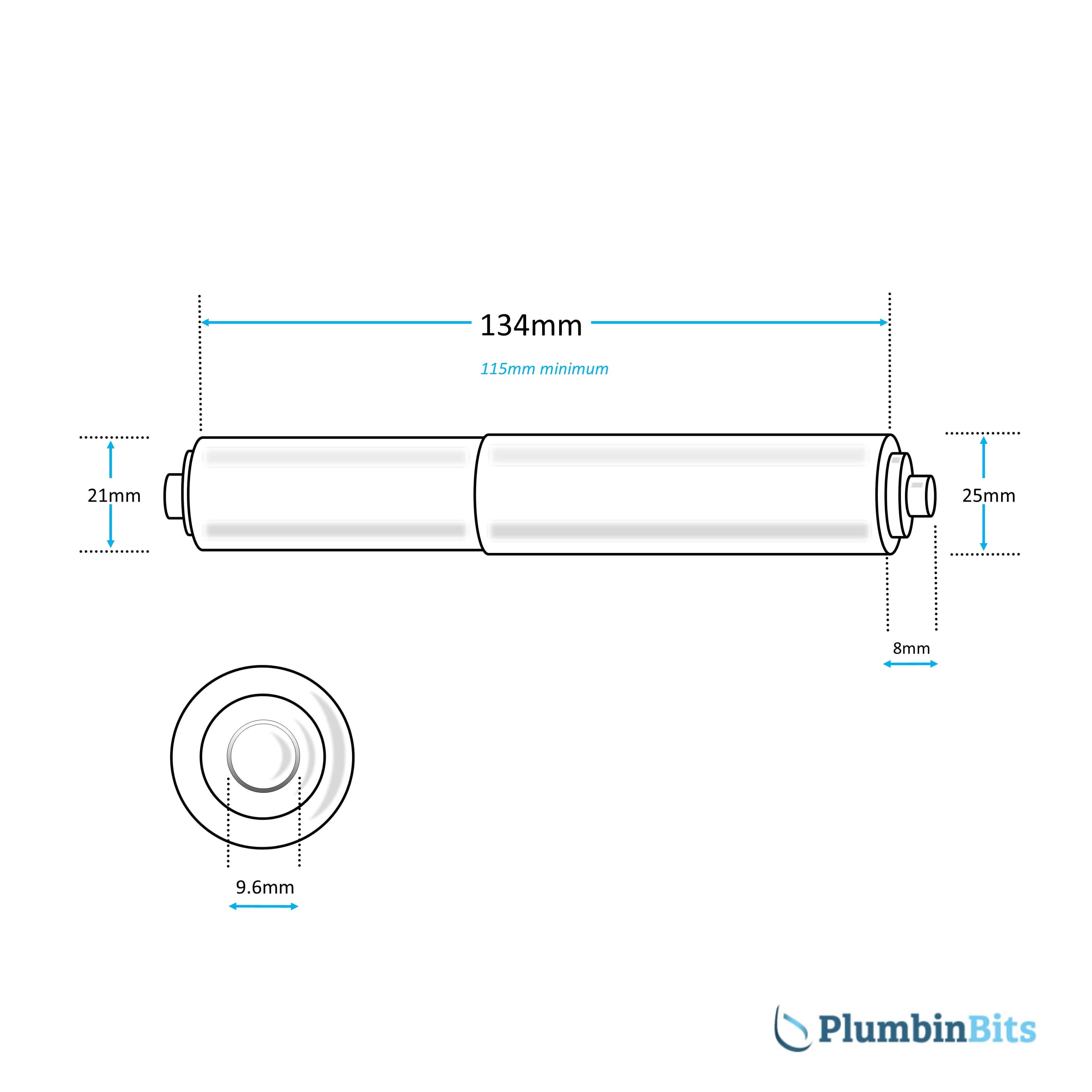 WC Roll Holder Insert Measurement