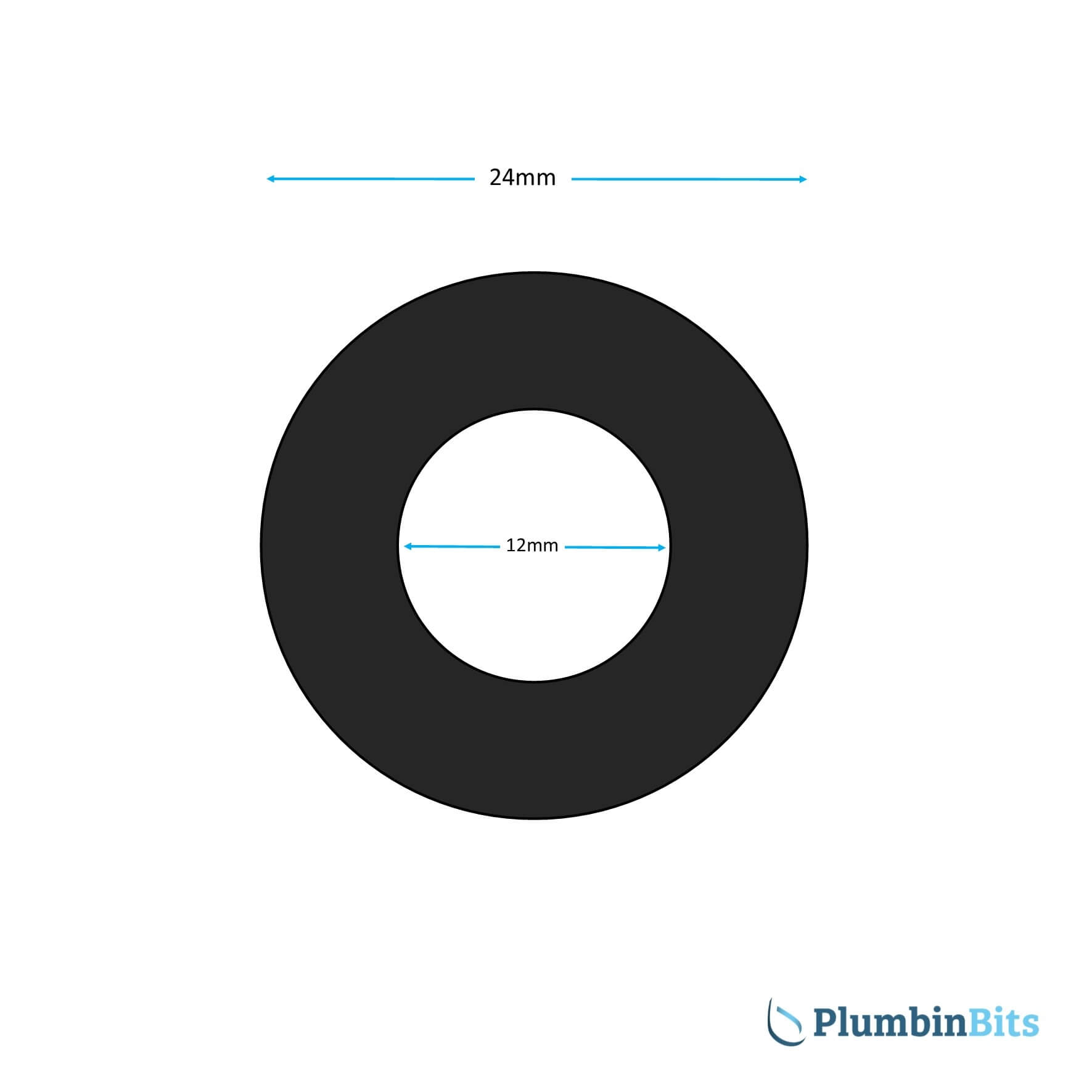 24mm Rubber washer measurements