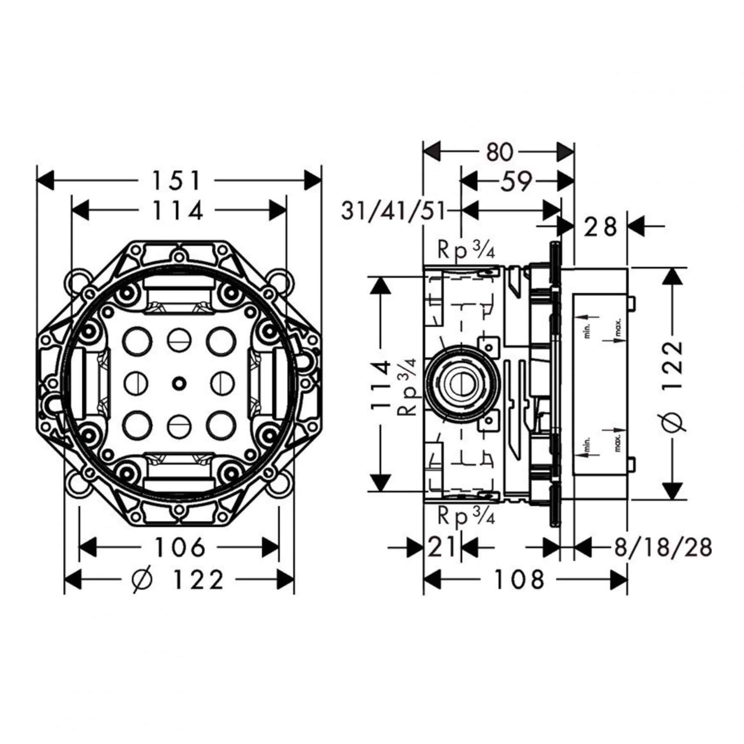 Hansgrohe Ibox Measurements