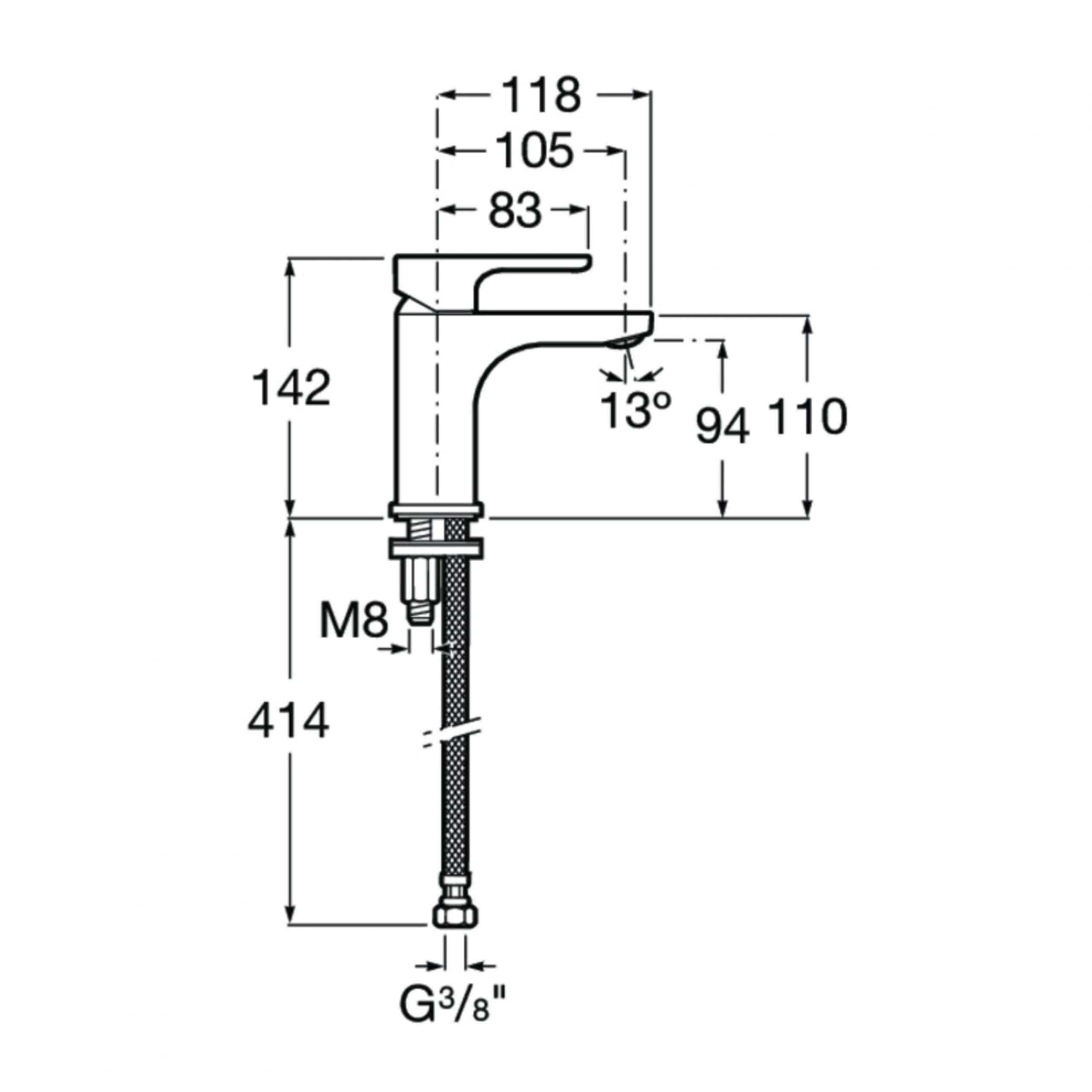 Roca A5A3209C0R Measurements