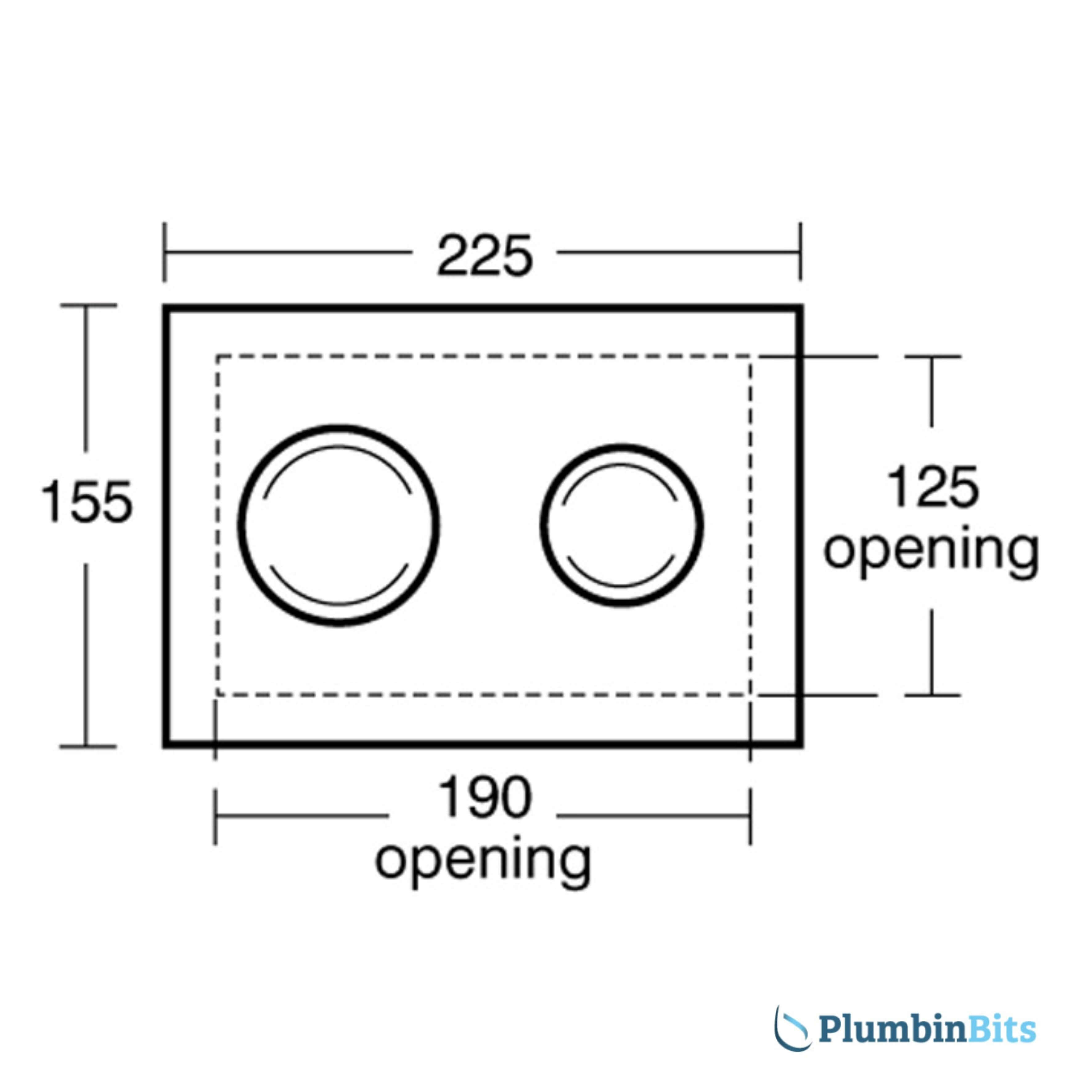 Armitage Shanks S4503MY Measurement 1