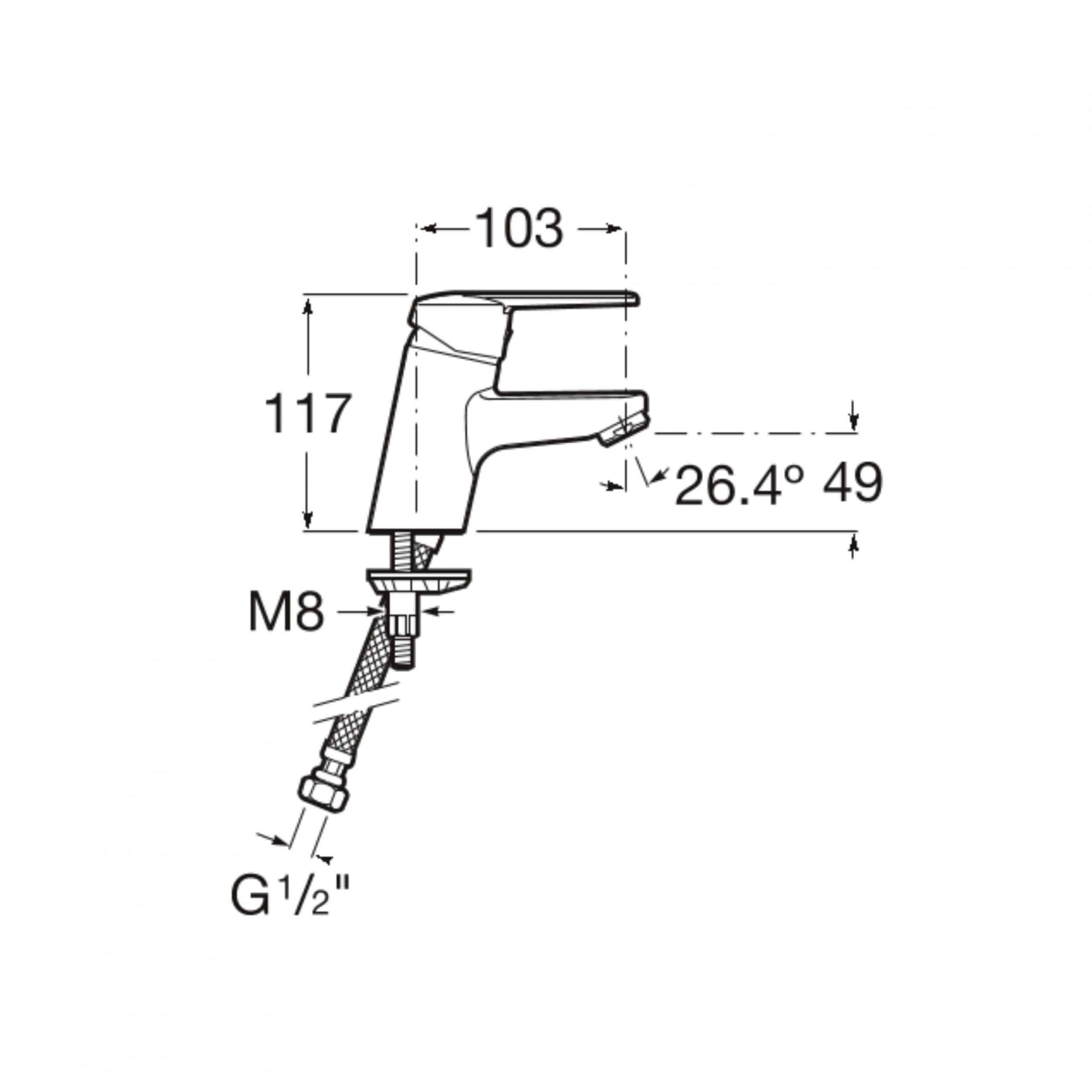 Roca A5A3225C0R Measurements