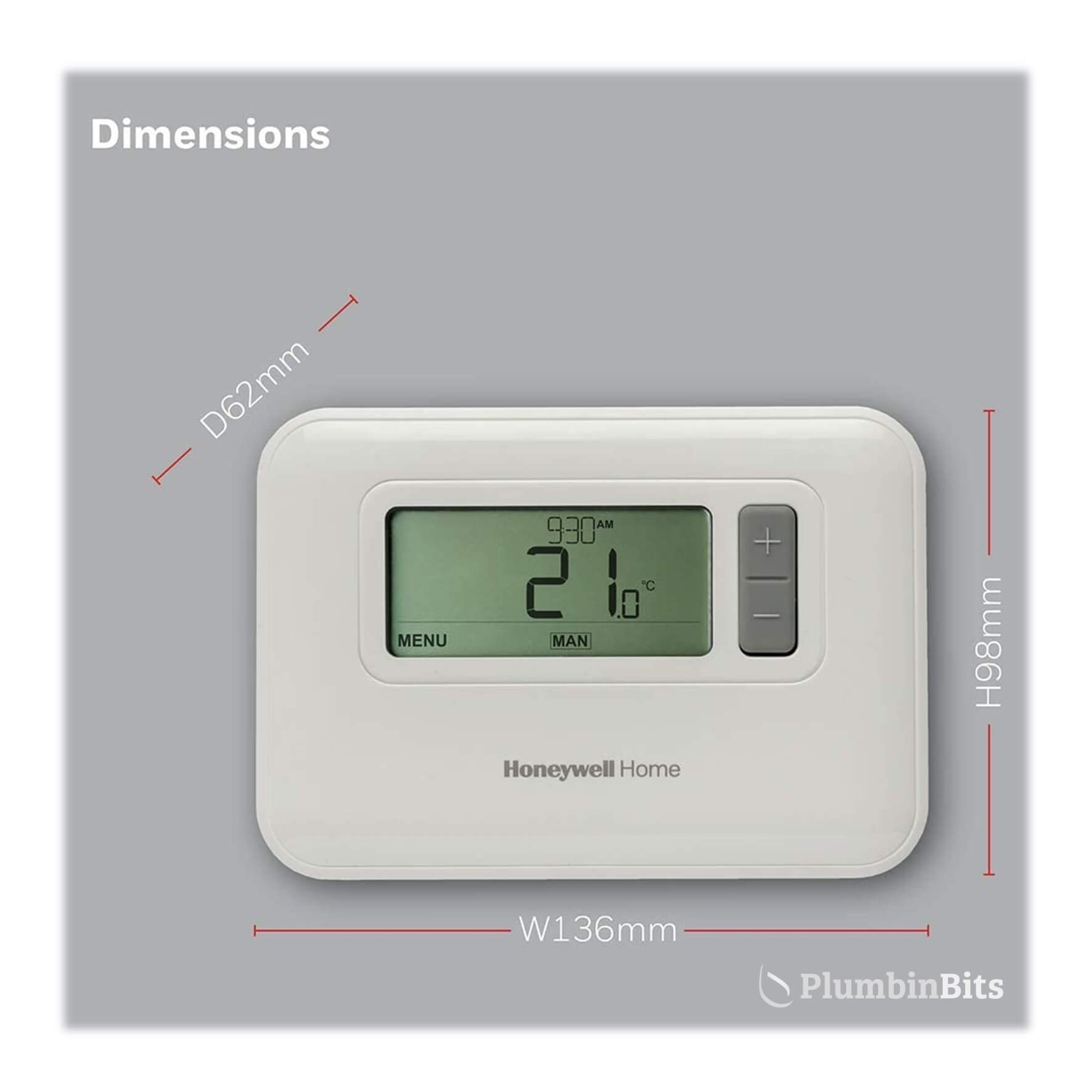 Honeywell Thermostat Measurements T3R